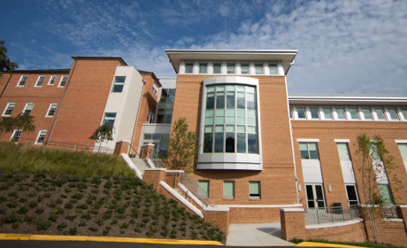View of Ames Hall building