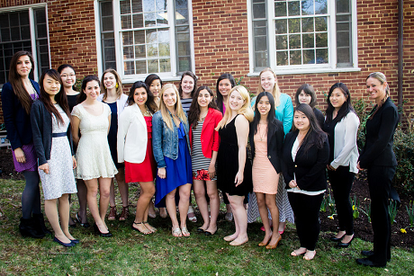 Group photo of students in the Women's Leadership Program