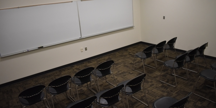 West Hall B104 Theater Setup