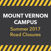 Mount Vernon Campus Summer 2017 Road Closures
